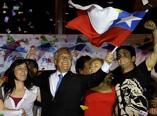 Sebastian Pinera, nowy prezydent Chile, tuż po ogłoszeniu wyników wyborów (Christian Science Monitor/Reuter)