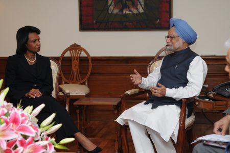 Condoleezza Rice i Manmohan Singh. Fot. U.S. Embassy New Delhi / Flickr-CC