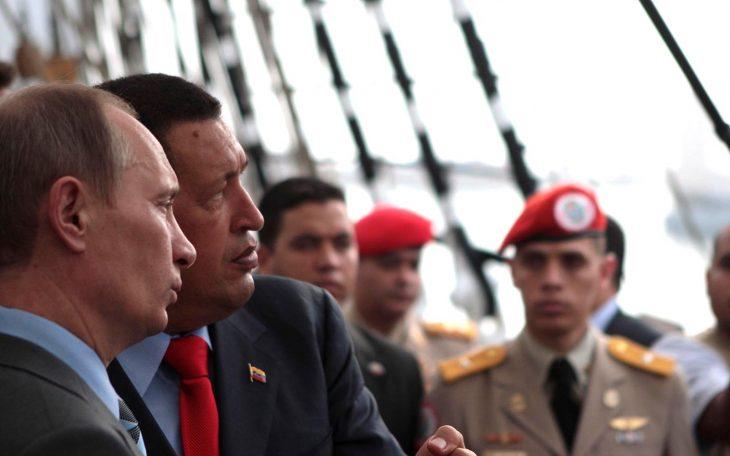 W. Putin i Hu. Chavez. Fot. Globovision / Flickr-CC