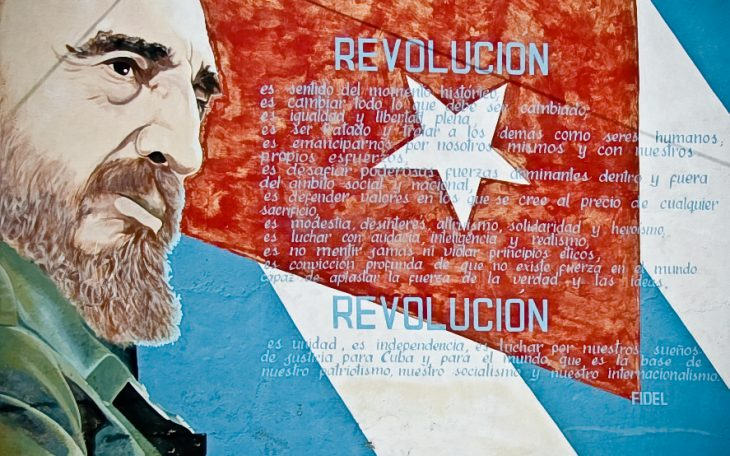 Mural przedstawiający Fidela Castro, Kuba. Fot. Ramon Rosati / Flickr-CC