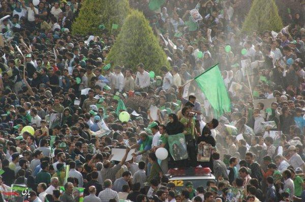 Zielona Rewoucja: Isfahan. Fot Twitter