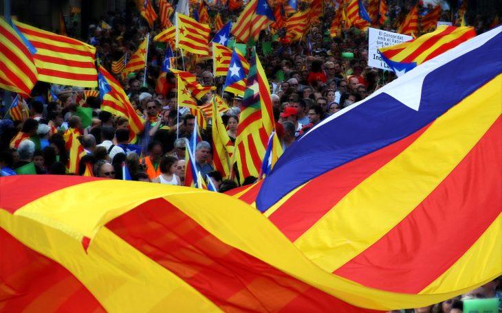 Demonstracja w Katalonii. Fot: vdorse Flickr / cc