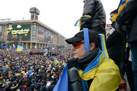 Prounijna demonstracja w Kijowie, grudzień 2013 r. (fot. Flickr / Ivan Bandura)