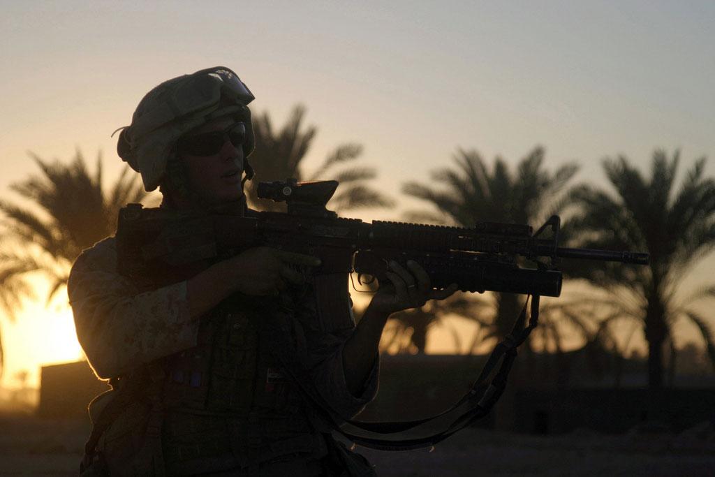 Amerykański marine w Iraki (Fot. expertinfantry / Flickr / CC)