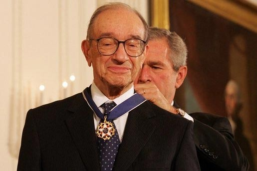 Alan Greenspan (fot. White House photo by Shealah Craighead)