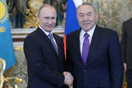Władimir Putin i Nursułtan Nazarbajew. Fot. Kremlin.ru - CC