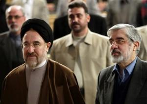 Były prezydent Iranu, Mohammed Chatami, oraz ostatni premier tego kraju, Hossajn Musawi