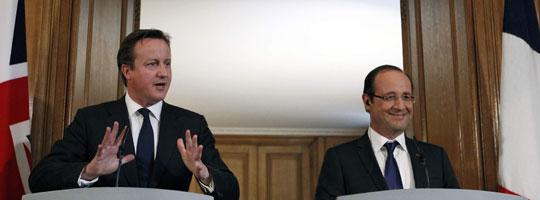 Cameron i Hollande na konferencji prasowej (Źródło: number10.gov.uk-OGL)