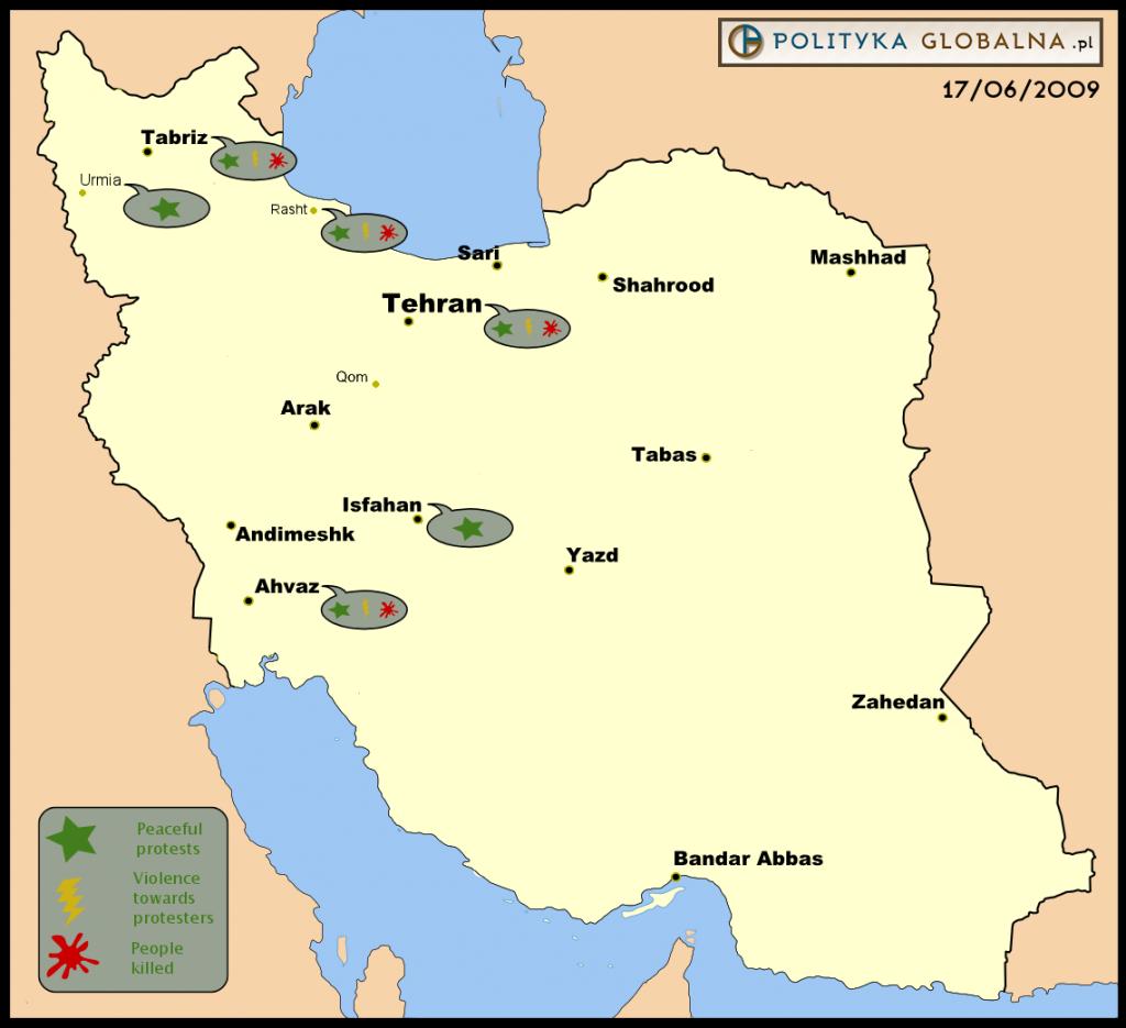 Protesty w Iranie, 17 czerwca 2009