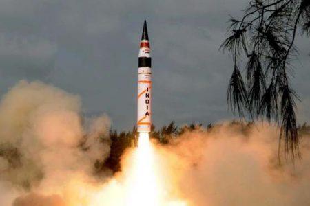 Start Agni-V (Ministerstwo Obrony Indii)