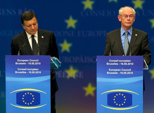 José Manuel Barroso i Herman Van Rompuy (Flickr: President of the European Council)