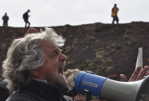 Satyryk Beppe Grillo, lider Ruchu Pięciu Gwiazd (Flickr: pasere)