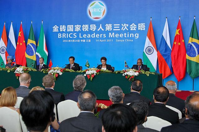 Spotkanie przywódców państw BRIC: Brazylii, Rosji, Indii i Chin (fot. Blog do Planalto/Flickr)