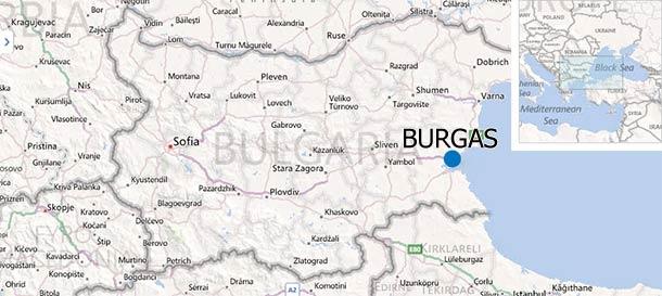 Burgas, Bułgaria (Mapy Binga)