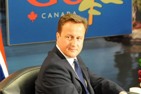 David Cameron na szczycie G8 w 2008 r. (Flickr: The Prime Minister's Office)