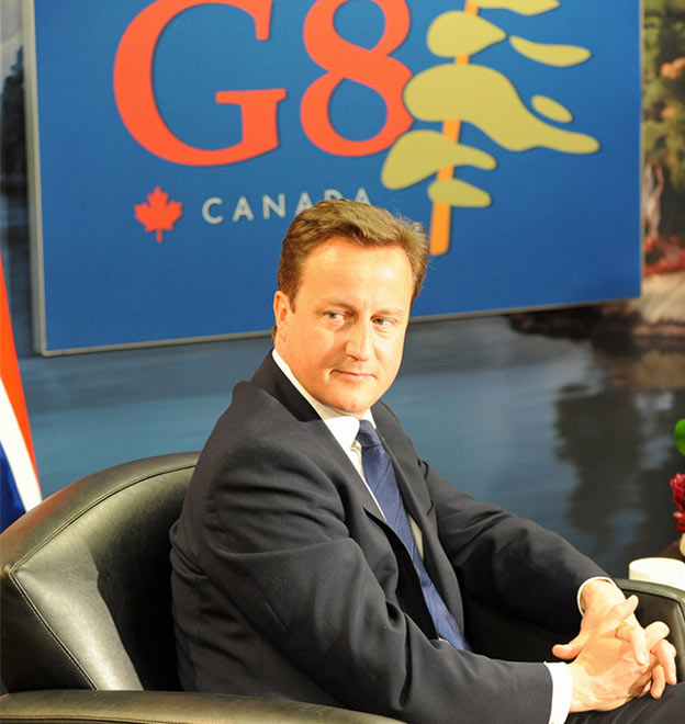 David Cameron na szczycie G8 w 2010 r. (Flickr: The Prime Minister's Office)