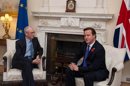 Przewodniczący Rady Europejskiej Herman von Rompuy i premier Wielkiej Brytanii David Cameron (Flickr: President of the European Council)