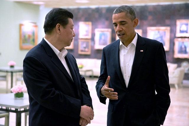 Spotkanie prezydentów Chin - Xi Jinpinga, i USA - Baracka Obamy w Sunnylands, styczeń 2013 (fot. WhiteHouse, Pete Souza)