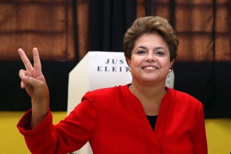 Niewiele zabrakło, aby Dilma Rousseff zwyciężyła w pierwszej turze (Źródło: Daylife/JEFFERSON BERNARDES/AFP/Getty Images)