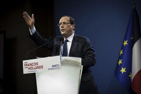 Francois Hollande na spotkaniu wyborczym w Nancy, marzec 2012 (Flickr/F. Hollande/B . Boccas)