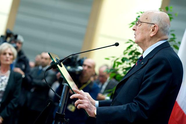 Giorgio Napolitano (fot. ©European Parliament/Pietro Naj-Oleari)