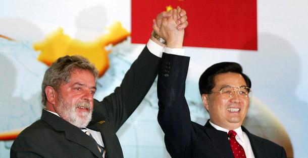 Ekspansja Chin w hemisferze zachodniej: prezydent Brazylii Lula z prezydentem ChRL, Hu Jintao