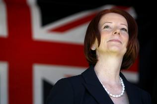 Julia Gillard w czerwcu 2010 r. została pierwszą w historii Australii kobietą na stanowisku premiera (Zdjęcie: news.com.au)