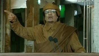 Kadr z przemówienia Kaddafiego z 22/02/2011 r. (Zdjęcie: rian.ru)