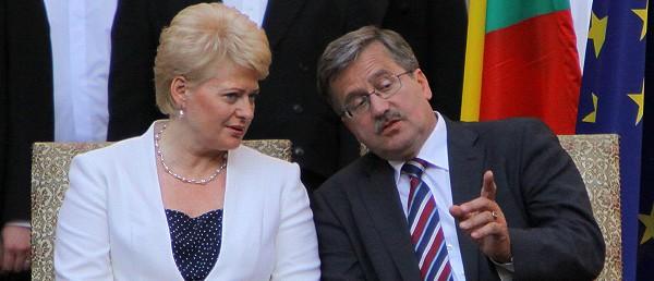 Prezydenci Litwy (Dalia Grybauskaite) i Polski (Bronisław Komorowski) na wspólnym spotkaniu (Zdjęcie: Daylife.com)