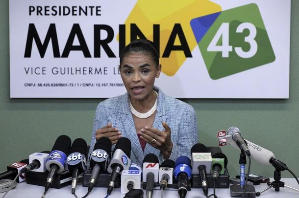 Marina Silva zajęła trzecie miejsce w pierwszej turze, odbierając zapewne zwycięstwo Dilmie Rousseff (Źródło: Daylife/MAURICIO LIMA/AFP/Getty Images)