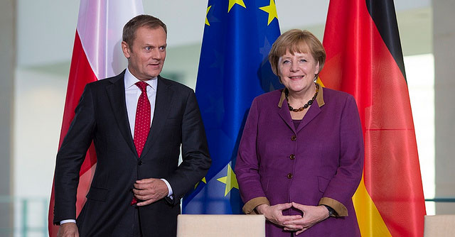Donald Tusk i Angela Merkel (Fot. Maciej Śmiarowski/KPRM/Flickr)