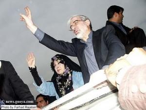 Mir Hosejn Musawi z żoną, Zahrą Rahnavard