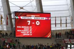 Mecz z Portugalią zakończył się dla graczy z KRLD przegraną 7:0 (Źródło: Flickr/jorege-11)