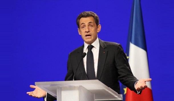 Nicolas Sarkozy na konwencji wyborczej (Flickr/UMP Photos)