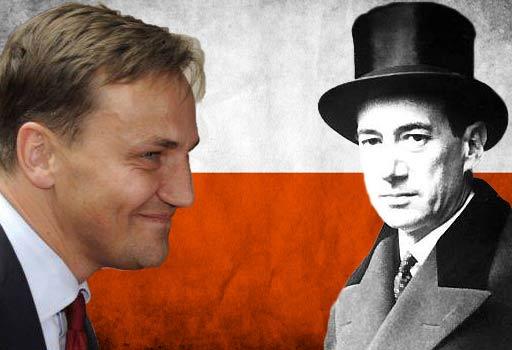 Czy minister Sikorski (po lewej) dostrzegł oczywistość, której jego poprzednik z międzywojnia, minister Beck (po prawej) nie dostrzegł?