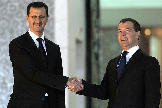 Baszar al-Assad i Dmitrij Miedwiediew (Zdjęcie: Wikipedia)
