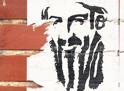 Plakat z podobizną Osamy bin Ladena, symbolu współczesnego terroryzmu (Zdjęcie: sfu.ca)