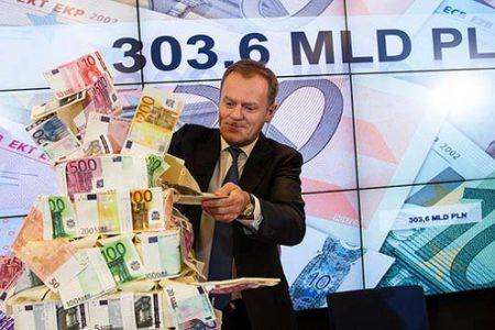Premier D. Tusk na konferencji prasowej po szczycie (fot. Maciej Śmiarowski/KPRM)