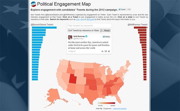 Polityczna mapa USA wg Twittera