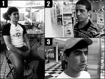 Uchodźcy z Afganistanu, bohaterowie reportażu. 1. Jahija, 2. Ali, 3. Armani (Zdjęcia: Anna Mączka/Polityka Globalna)