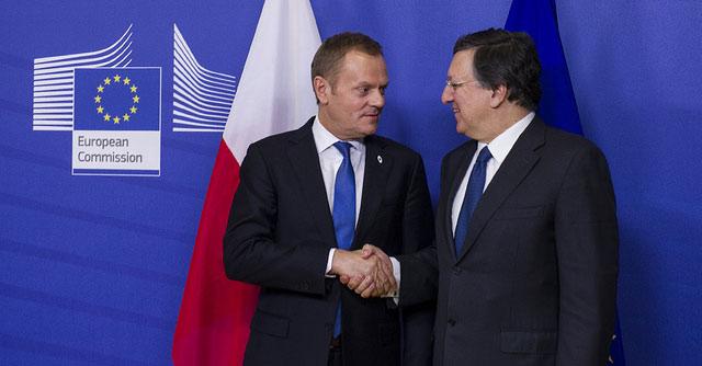 Szczyt Unii Europejskiej: spotkanie D. Tuska i Jose M. Barroso (Fot. Maciej Śmiarowski/KPRM)