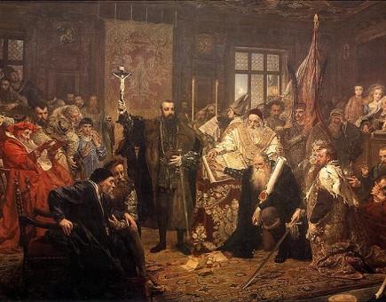 Unia Lubelska, obraz Jana Matejki z 1869 roku (Źródło: wikipedia.org)