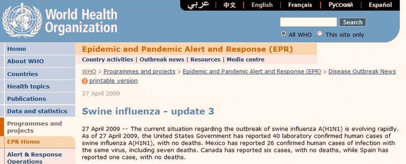 Informacja ze strony WHO (za: www.doorg.info)