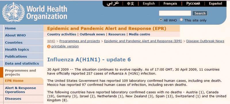 Dane ze strony WHO (za: www.doorg.info)