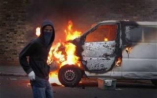 Zamieszki w Londynie (źródło: Daily Telegraph)