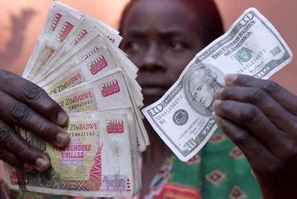 Tak wygląda wymiana waluty w Zimbabwe. I na pewno nie jest to ostatnie słowo banku centralnego Zimbabwe.