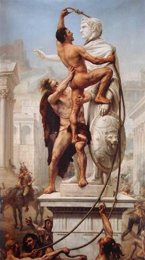Złupienie Rzymu, obraz J. N. Sylvestre'a z 1890 r. (źródło: Wikimedia)